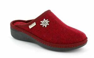 Ciabatte Pantofole Donna Grunland ALDE CI0938 BORDÒ Lana Cotta Made In Italy