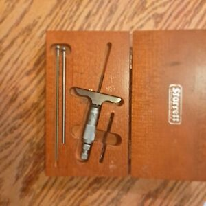 Starrett Micrometers one depth mic No. 440 and one outside mic No, 336 3in.
