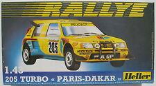 Heller 80189 - PEUGEOT 205 TURBO PARIS-DAKAR - 1:43 - Auto Modellbausatz Kit