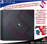 CONSOLA SONY PS4 PLAYSTATION 4 FIRMWARE 6.00 1TB SLIM NEGRA 100% NUEVA CUH-2216B