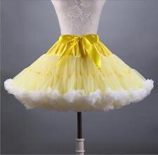Adult Tutu Fluffy Party Skirt Soft Princess Ballet Pettiskirt Women's Dancewear