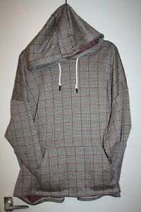 VERY SIZE 24 BROWN CHECKED HOODIE EITH FRONT POCKET