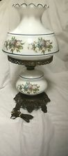 Accurate casting CO  inc Lamp 1940 To 1960 Blue & Peach Floral Vintage