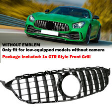 For Mercedes Benz C Class GTR Style W205 2015-18 Glossy Black Front Grill Grille