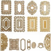 Square Album Lace Frame Metal Cutting Dies Scrapbooking Embossing Stencil Crafts