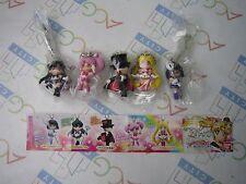 Sailor Moon 20th Anniversary Swing Keychain Figure 3 Gashapon Full Set Bandai