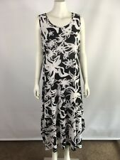Millers size 16 black and white floral long maxi dress