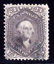 #78b - 24 Cents 1861 George Washington, NBNC, Gray Black shade, face free ccl.