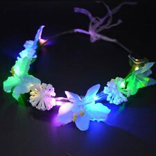 Woman LED Light-up Flashing Headband Garland Flower Wreath Flowers Party
