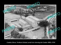 OLD LARGE HISTORIC PHOTO COMBER NORTHERN IRELAND AERIAL VIEW OF THE MILLS c1930