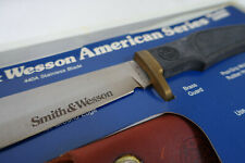 Smith & Wesson American Series Knife & Sheath #6080 80's Bangor Punta Never used