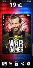 Topps WWE Slam Digital Card red Adam Cole War Games Nxt 2019