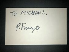 1993 GIANTS: Rikkert Fanyete, SIGNED 3x5 Card