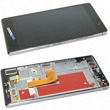 For Huawei Ascend P7 LCD Touch Screen Assembly With Frame Parts Black