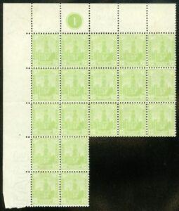 EDW1949SELL : SOUTH AUSTRALIA 1906 Scott #144 Blk of 19 Fresh & VF MNH Cat $194.