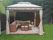 3x3M Metal Gazebo Pavilion Garden Tent Canopy Sun Shade Shelter Marquee Greenbay