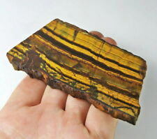 412Ct Natural African Yellow Blue Tigereye Facet Rough Specimen YHYB7