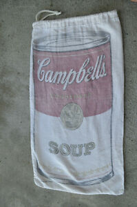 Vintage CAMPBELL'S SOUP Cotton Canvas DITTY Bag WARHOL ADVERTISING promo