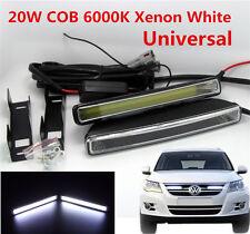 Pair 20W COB 6000K Xenon White LED Light aluminum alloy DRL Driving Fog Lamps E4