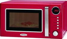Bomann Retro-Mikrowelle mit Grill+Uhr Nostalgie-Design Mikrowellenherd+Timer rot