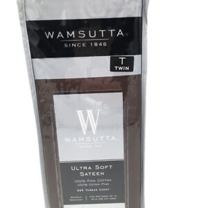 New Wamsutta 525 Thread Count Pimacott Fitted Sheet Solid Chocolate Size Twin
