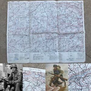 WWII Rare 29th Infantry Division D-Day 12th SS Vassy France Combat Map WW2 Relic