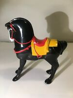 Disney Mulan Khan Black Horse Figure Loose McDonalds Happy Meal Toy VTG 1998