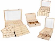 Setzkasten Sammler-Box Holz mit Deckel Sortierbox für Figuren Schmuck Mineralien