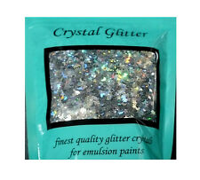 Crystal Glitter for emulsion paint, Holographic Stars & Moons, Silver Rainbow
