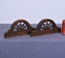*Pair French Antique Breton/Brittany Wood Arches w/ Nautical/Ship's Wheel Theme