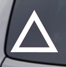TRIANGLE Vinyl Decal Sticker Car Window Wall Bumper Symbol Logo Laptop Macbook