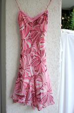 pennyblack by max mara chiffon-kleid rosa 34  top mini  chiffon asymmetrisch
