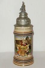 Vecchio Brocca Riservista Garde Kürassier Berlino Krug Boccale Birra Pietra