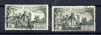 New Zealand 1936 2/- Officials (2 types) fine used WS14982