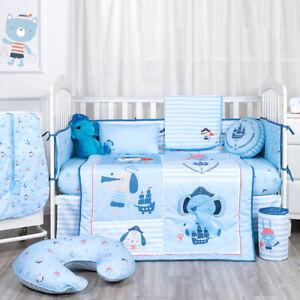 Kiddos Luxury 3 piece Crib Bedding Set for Boys- Little Pirate Ship