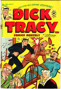 """DICK TRACY #37 GD- Chester Gould """"Introducing Itchy"""" 1951 Harvey B.O. Plenty"""
