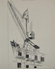 Robert DELAUNAY - lithographie originale - Paris, la grue