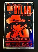 Bob Dylan and His Band rare Concert Gig Poster Signed #d Clearwater Fla 2018 Wow