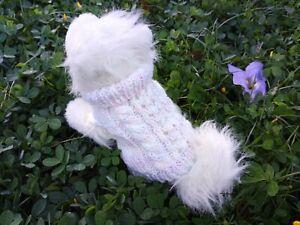 XXXS handmade knit dog sweater