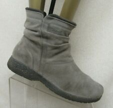 TEVA Gray Suede Slouch Side Zip Ankle Fashion Boots Bootie Size 11 Style 1005323