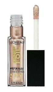L'OREAL Crushed Foil Metallic Lip Gloss 15 Luster - NEW Sealed