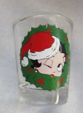COLLECTIBLES WILLABEE & WARD BETTY BOOB WHISKEY SHOT GLASS CHRISTMAS SANTA HAT