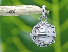 Handmade Sterling Silver .925 Bali Small Harmony Chime Ball Pendant,12mm #2