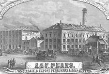 LONDON. Wholesale & export perfumers & soap makers, antique print, 1882