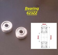 2 x Ball Bearing 623ZZ Roulement à Billes 3 x 10 x 4mm 623ZZ