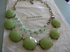 Premier Designs MINT CONDITION green gold necklace bracelet RV $49 free ship nwt