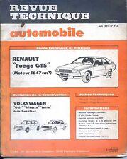 REVUE TECHNIQUE AUTOMOBILE n°412 Juin 1981 - Renault Fuego - Golf Scirocco Jetta