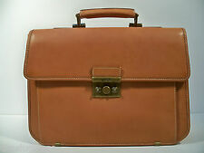 Hartmann Belting Leather Single Gusset Flapover Briefcase Messenger Bag