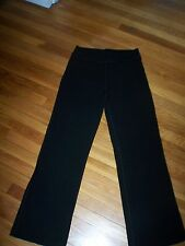 IBEX BLACK WOOL/NYLON/SPANDEX STRETCH ELASTIC WAIST SLACKS PANTS. SZ L.