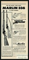 1955 MARLIN 336 30/30-C and Deluxe Sporting Carbine Vintage Gun AD Advertising